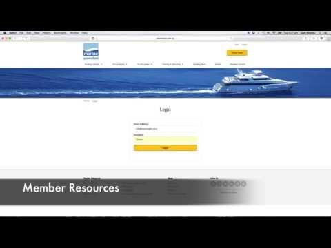 Using the Marine Queensland Website as a Member