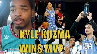 KYLE KUZMA WINS RISING STARS MVP | USA VS THE WORLD HIGHLIGHTS REACTION