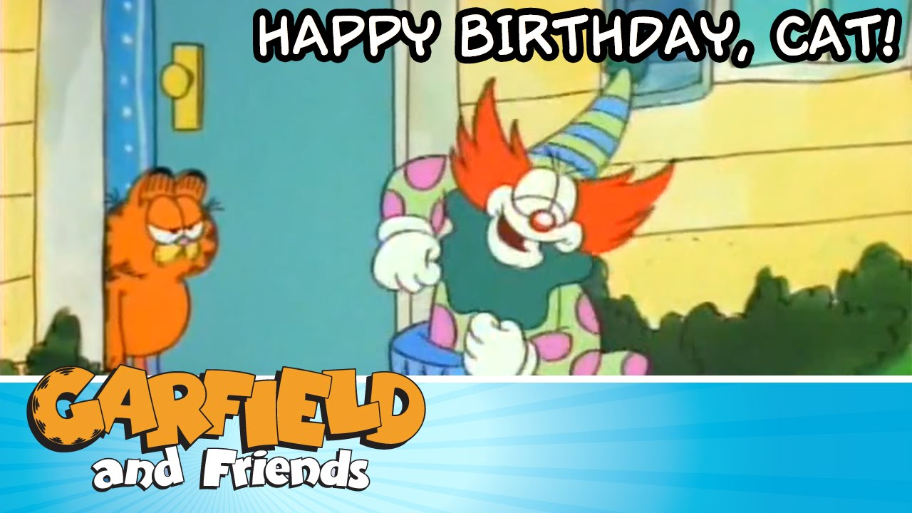 Happy Birthday Cat Garfield Friends Youtube