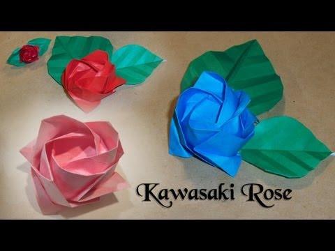 Origami Kawasaki Rose by Toshikazu Kawasaki