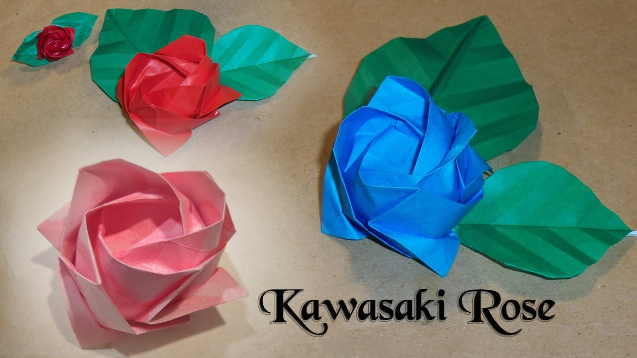 Kawasaki Rose Origami Diagram Embroidery Origami