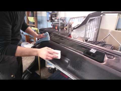 Professionel bil-klargøring med nano svamp