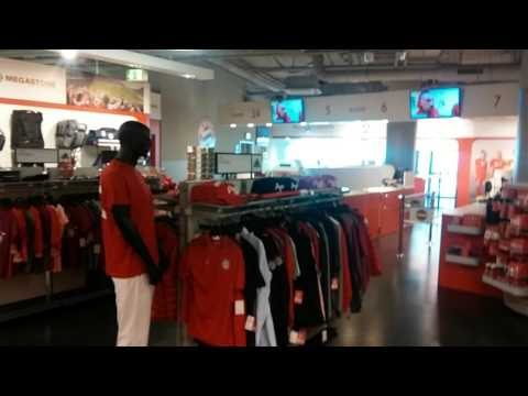 Allianz arena - FC Bayern Munich mega store view
