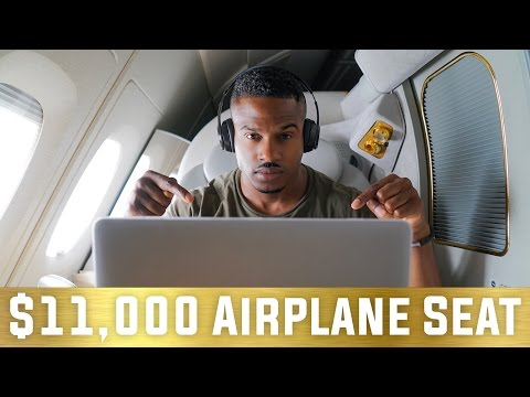 Thumbnail: THE $11,000 FIRST CLASS FLIGHT SEAT