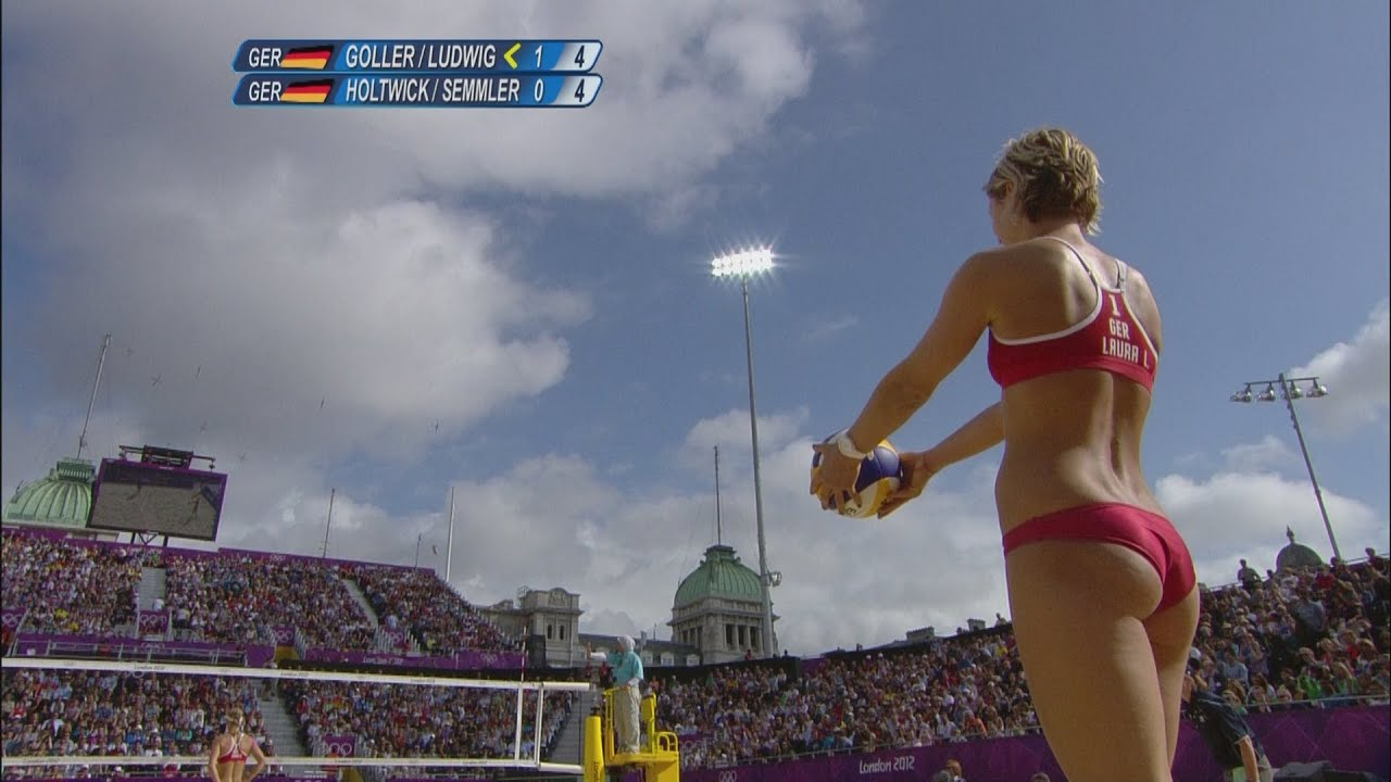 Women's Beach Volleyball Round of 16 - GER v GER | London ...