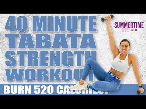 40 Minute Tabata Strength Workout ��Burn 520 Calories!* ��Sydney Cummings