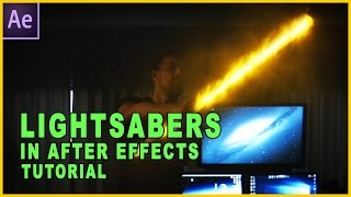 After Effects Tutorial - How To Make Lightsabers In After Effects With Video Copilot's Saber Plugin
