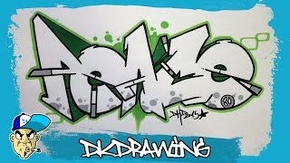 How to draw graffiti letters peace step by step