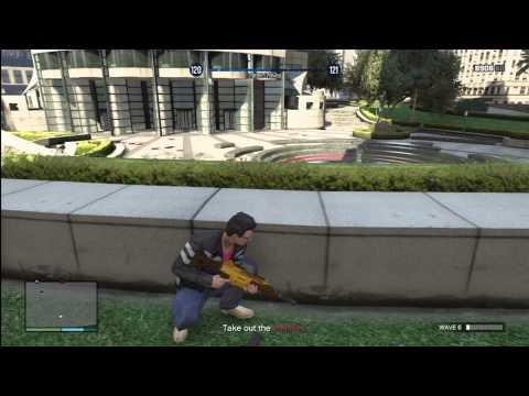 GTA V Survivals 14 Maze Bank Waves 01-10 Solo