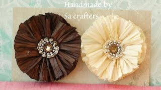 DIY:Easy to make Twisted Paper Cord Flowers Tutorial by SaCrafters and store haul