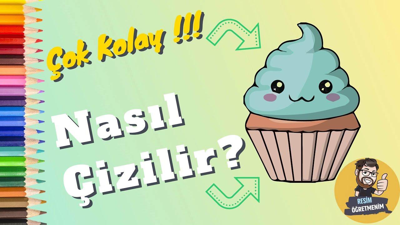 Muffin Kek Nasil Cizilir Resim Ogretmenim Youtube