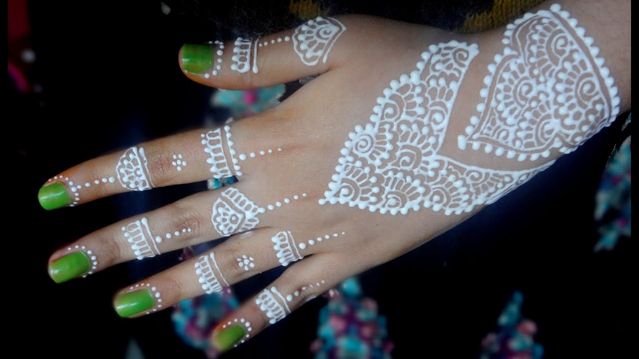 White Henna: Best And Beautiful White Henna Tutorial