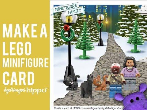 How to Make a Lego Minifigure Family Christmas Card - YouTube