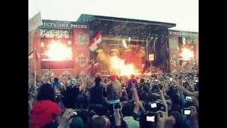 Рок над Волгой 2013 Начало выступления Rammstein