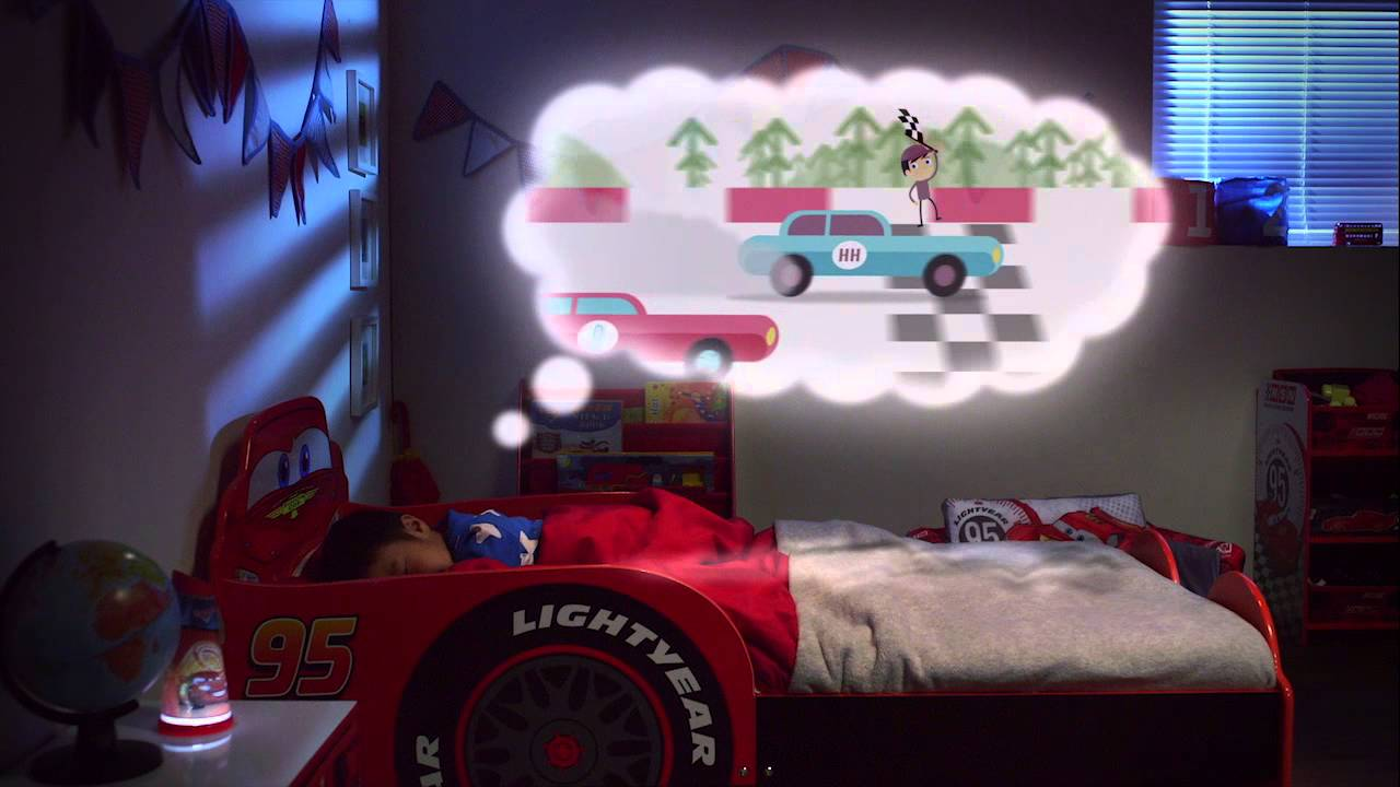 HelloHome Lightning McQueen Snuggletime Toddler Bed Nick