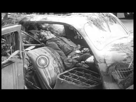 Scenes of destruction and death, the aftermath of World War II in Germany. HD Stock Footage