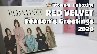 """Unboxing RED VELVET """"Season's Greetings 2020"""" 레드벨벳 시즌그리팅 언박싱 Kpop Ktown4u"""