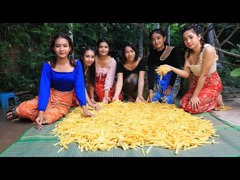 Amazing cooking 30 kg potato fried recipe