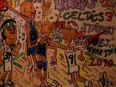 NBA FINALS LAKERS VS CELTICS (CARTOON)GAME #5