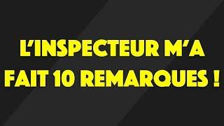 L'INSPECTEUR M'A FAIT 10 REMARQUES LE JOUR DU PERMIS ...