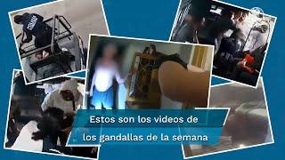 Una cámara de seguridad, instalada en la camioneta de pasajeros del Estado de México, captó el momento en el que dos sujetos se subieron a robar con cuchillos y una presunta arma de fuego a las personas que viajaban en la unidad, ante lo que una mujer imploró que se detuvieran, por esta razón EL UNIVERSAL te presenta a los gandallas de esta semana