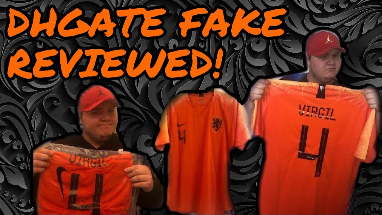 new product e6595 162f5 DHGATE FAKE Cheap Nike football shirt Holland🇳🇱Virgil Van Dijk Jersey  Review (unboxing/unbagging)