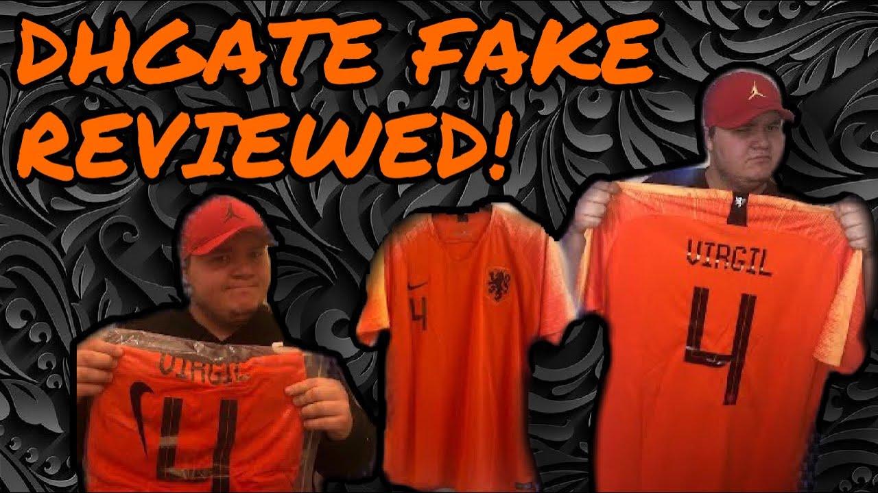 new product 54fd3 242ba DHGATE FAKE Cheap Nike football shirt Holland🇳🇱Virgil Van Dijk Jersey  Review (unboxing/unbagging)