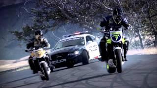 Repeat youtube video Skrillex - Breakn' A Sweat / Motorcycle vs. Car Drift Battle 2 -MUSICVIDEO-