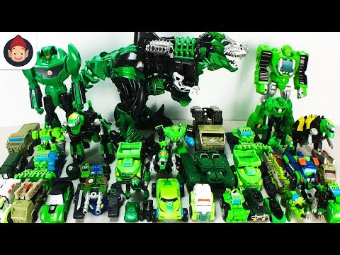 Green Color Transformers 40 Vehicle Transformation Robot Car Dinobots Hulk Grimlock Boulder Toys
