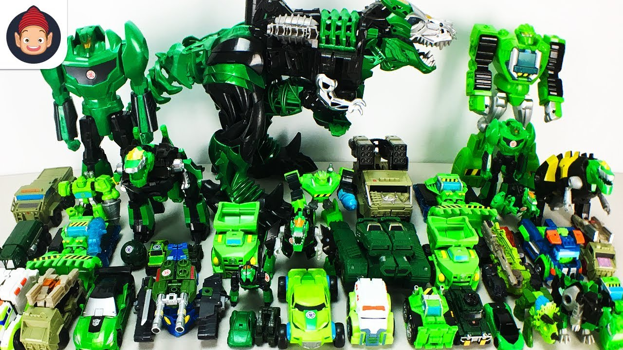 Green Color Transformers 40 Vehicle Transformation Robot Car