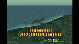 Ace Combat 2 - ace combat 2 ps playthrough 60 fps intro and  2 missions - User video