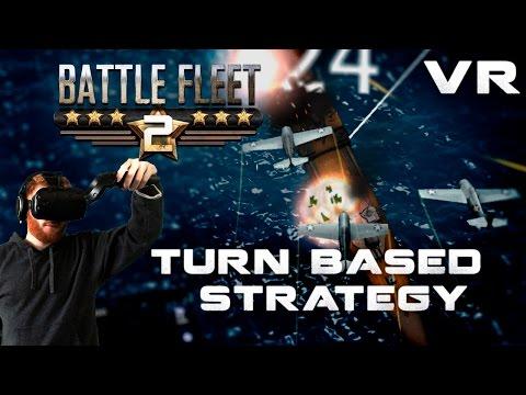 Battle Fleet 2: VR turn-based naval strategy gameplay on HTC Vive