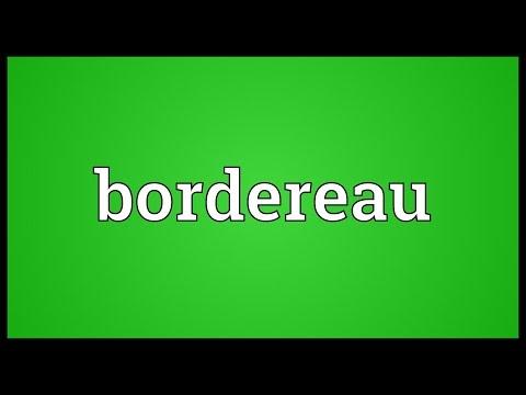 Header of bordereau