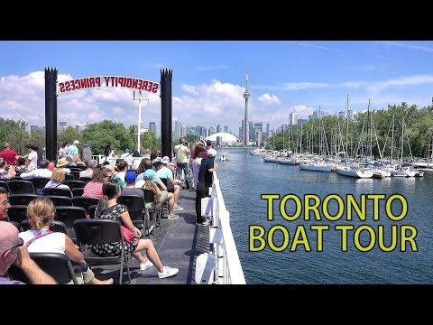 ONTARIO LAKE BOAT TOUR - TORONTO , CANADA 2019 4K