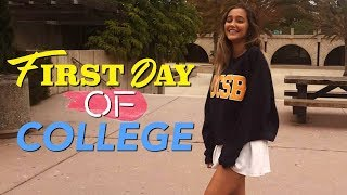 First Day of COLLEGE VLOG!