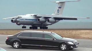 ロシア空軍のIL-76MDが山口宇部空港に大統領専用車を輸送〔到着編〕 Russia Air Force Ilyushin Il-76MD RA-78762 landing at RJDC/UBJ