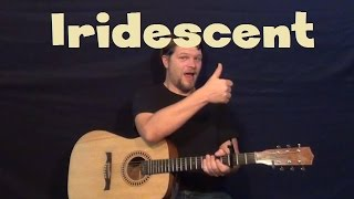 Iridescent (Linkin Park) Easy Guitar Lesson How to Play Tutorial Chords Strum Licks