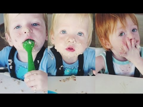 When Triplets Feed Themselves..
