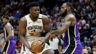 Zion Career High 35 Pts! LeBron From Half Court! 2019-20 NBA Season