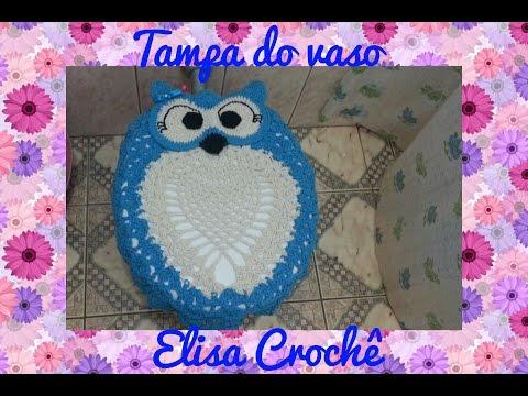 2815861b16e4b A ARTE DA VEZ - kit para banheiro - coruja feliz ;) by Artsil Tricô ...