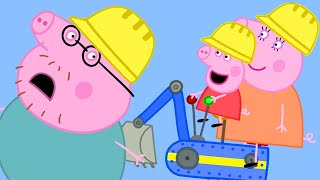 Peppa Pig English Episodes | Peppa Pig Goes to Digger World! Parents' Day | Peppa Pig Official