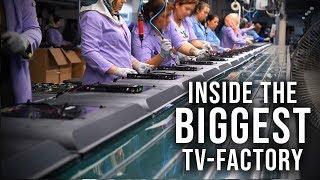 Inside a HUGE Smart TV Factory !