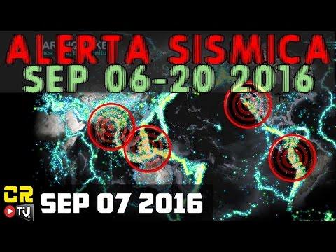 ALERTA SISMICA DEL 06 AL 20 DE SEP 2016 |  LAS AMERICAS Y ASIA