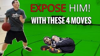 EXPOSE HIM: 4 HESI Basketball Moves You Can Use Off The Dribble | Hesitation Move