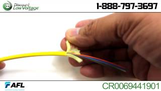 AFL CR0069441901 6 strand indoor singlemode riser fiber optic cable