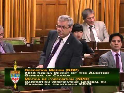 Charlie Angus on 2013 Spring Report of the Auditor General of Canada