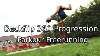 backflip 360 progression parkour freerunning