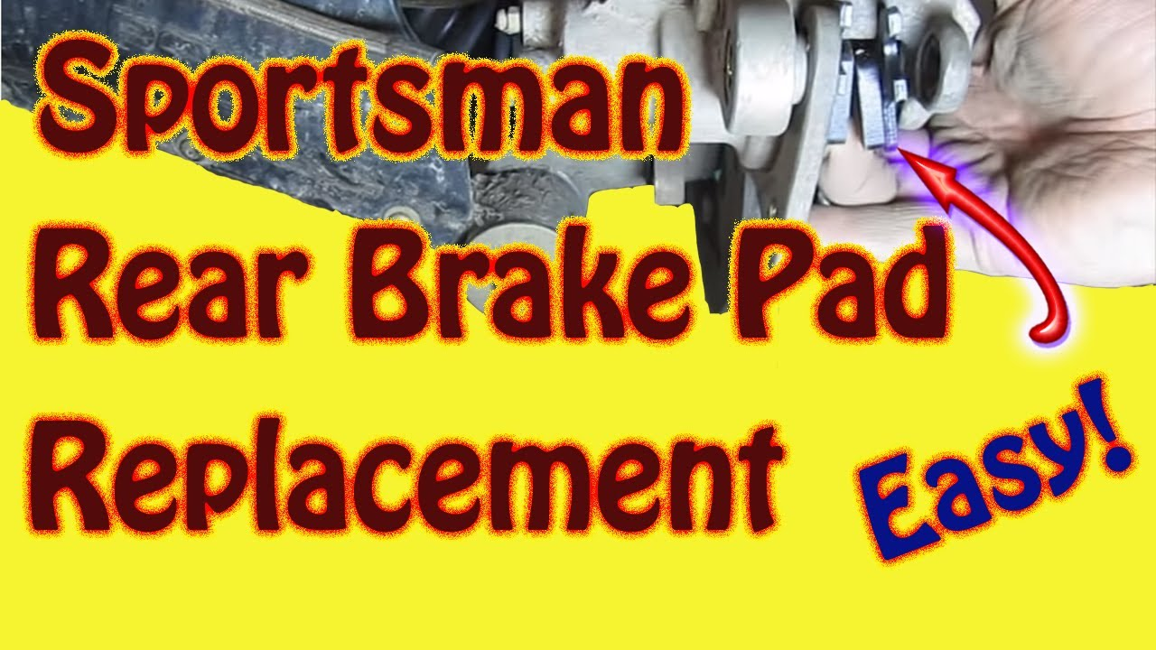 how to replace rear brake pads on a 2003 polaris sportsman 500 atv diy [ 1280 x 720 Pixel ]