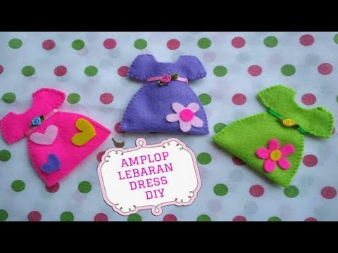 Cara Membuat Amplop Lebaran Dress dari Flanel