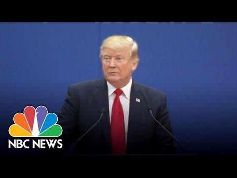 President Donald Trump: 'I Don't Blame China' For Taking 'Advantage' Of U.S. | NBC News